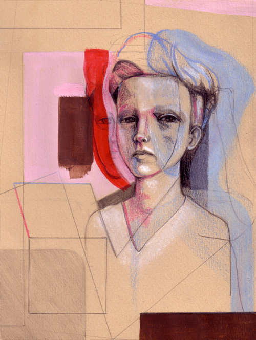 Portrait of a Boy in Pink & Blue